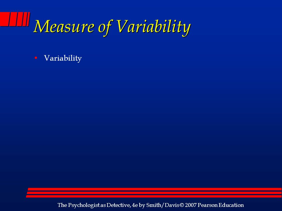 Measure of Variability