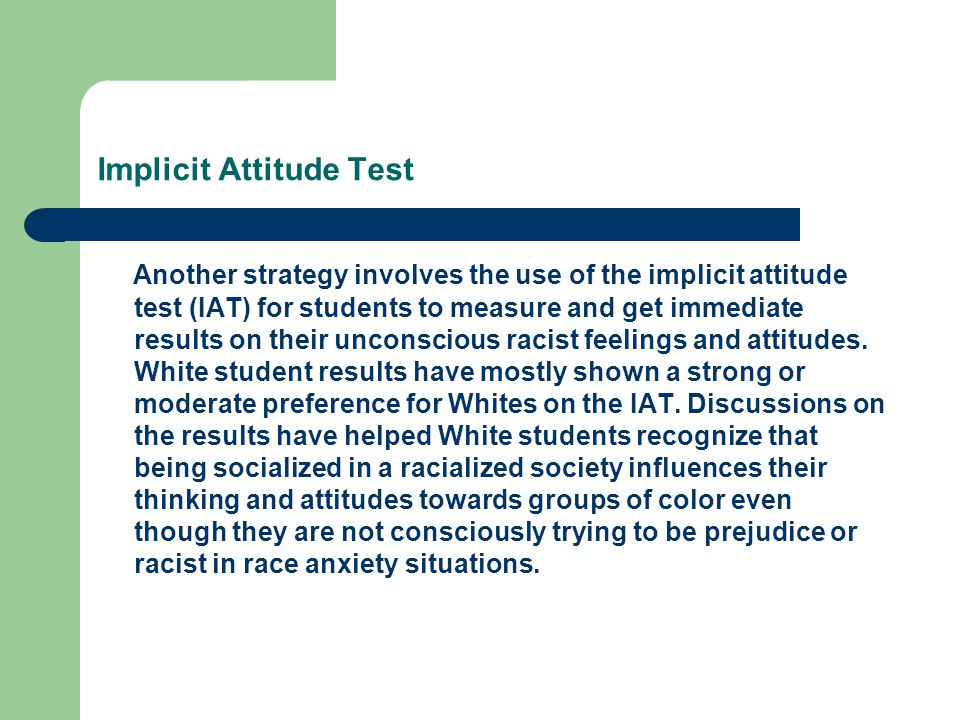 Implicit Attitude Test