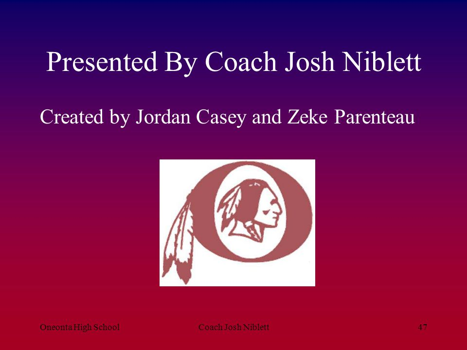 Presented By Coach Josh Niblett