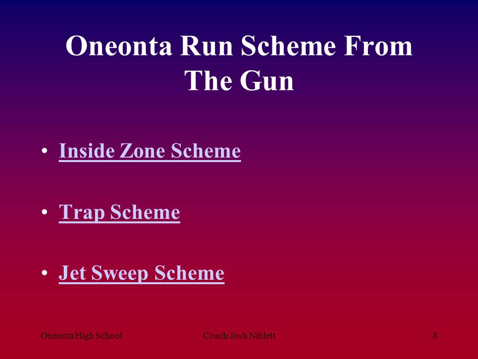 Oneonta Run Scheme From The Gun