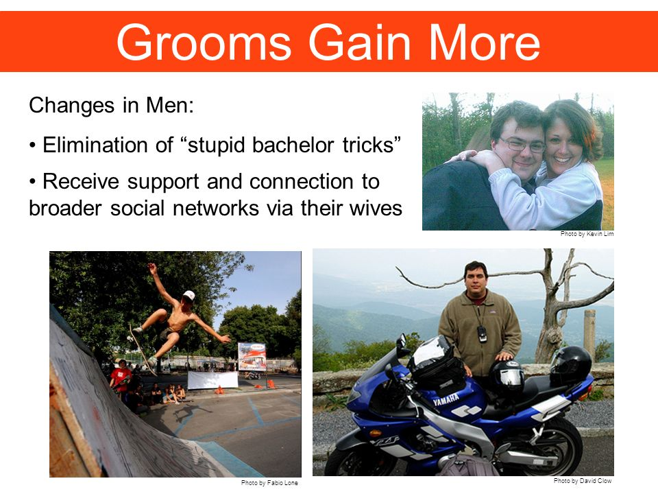 Grooms Gain More Changes in Men: