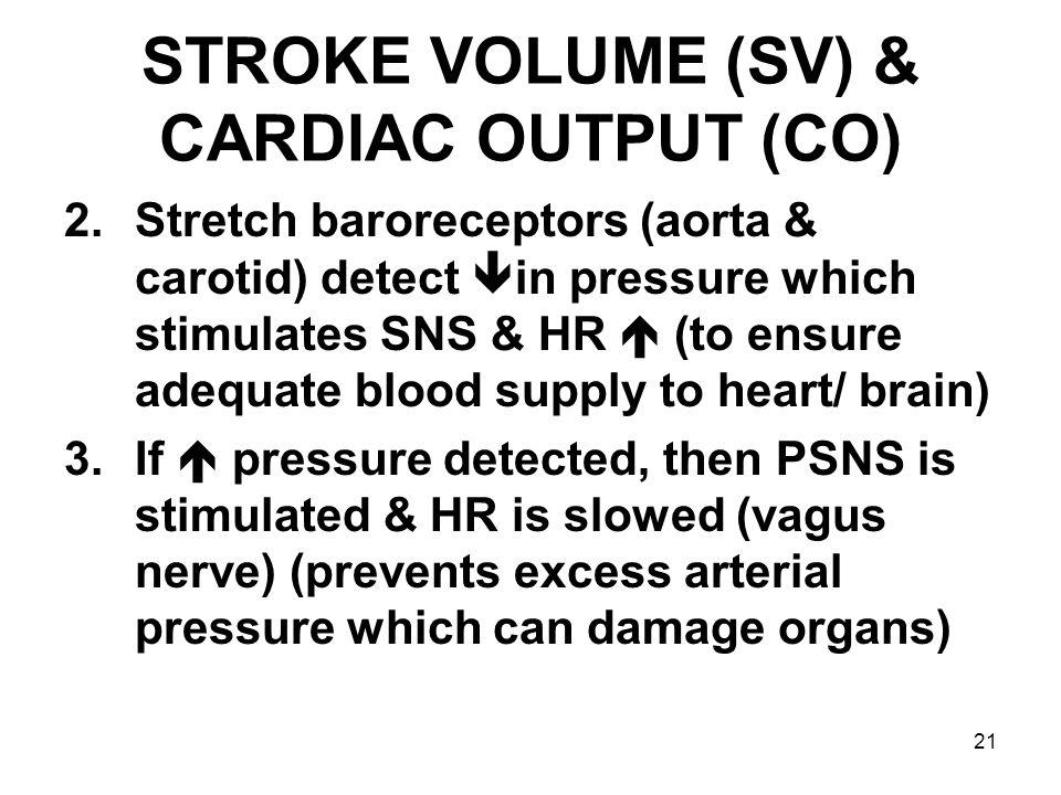 STROKE VOLUME (SV) & CARDIAC OUTPUT (CO)