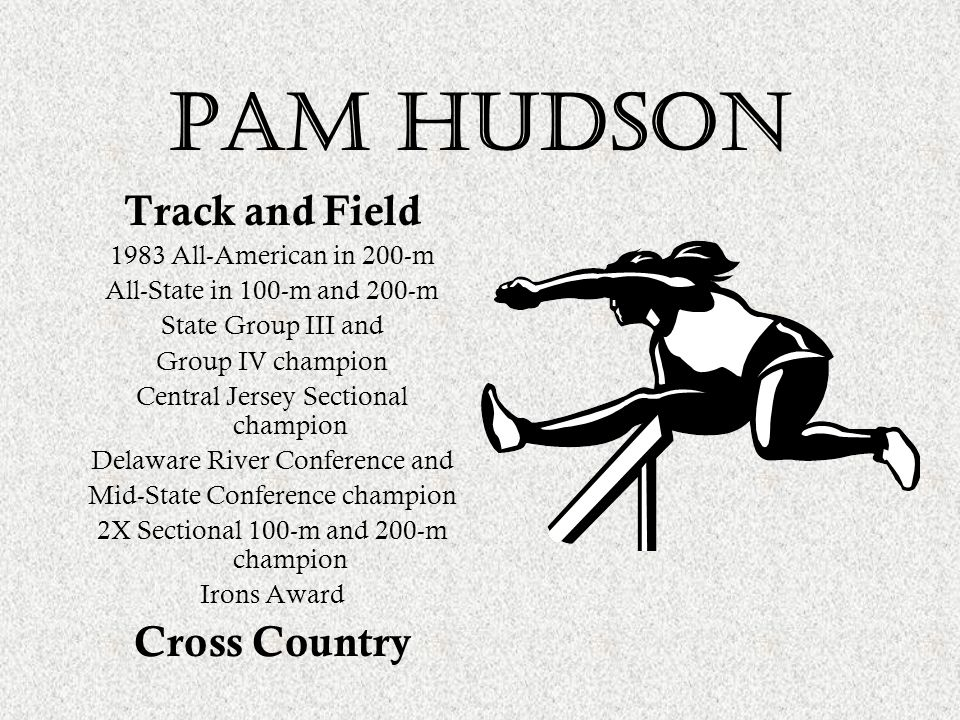Pam hudson Track and Field Cross Country 1983 All-American in 200-m