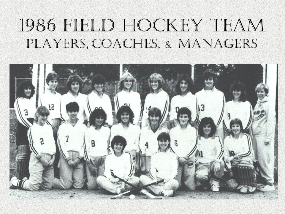 1986 field hockey Team Players, Coaches, & managers