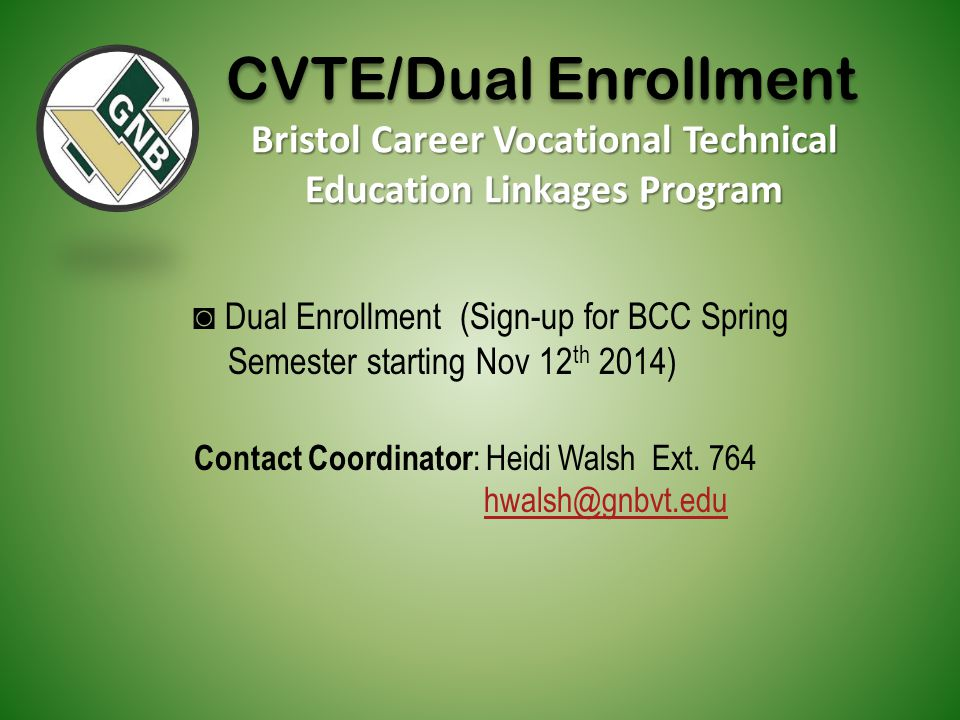 Bristol Career Vocational Technical Education Linkages Program