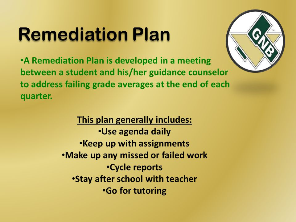 Remediation Plan