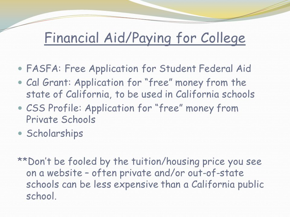 Financial Aid/Paying for College
