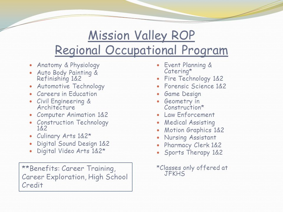 Mission Valley ROP Regional Occupational Program