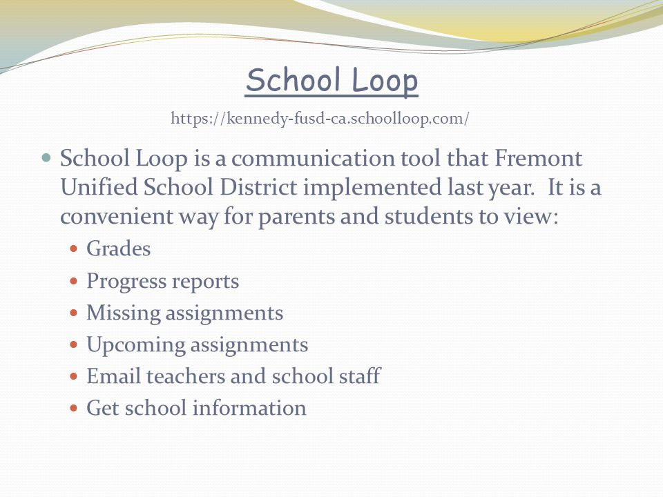 https://kennedy-fusd-ca.schoolloop.com/