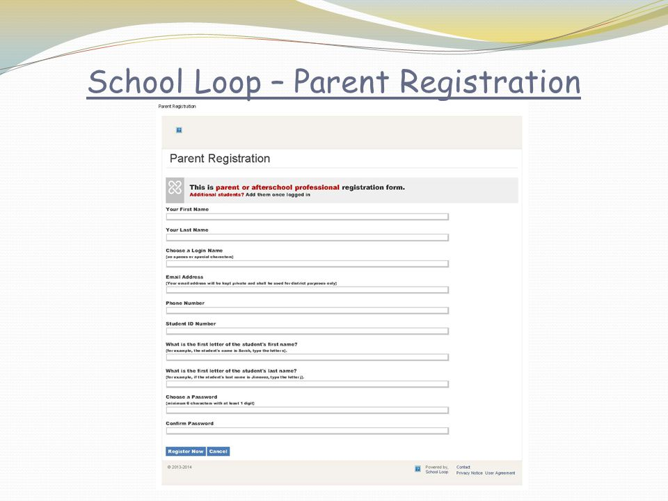 School Loop – Parent Registration