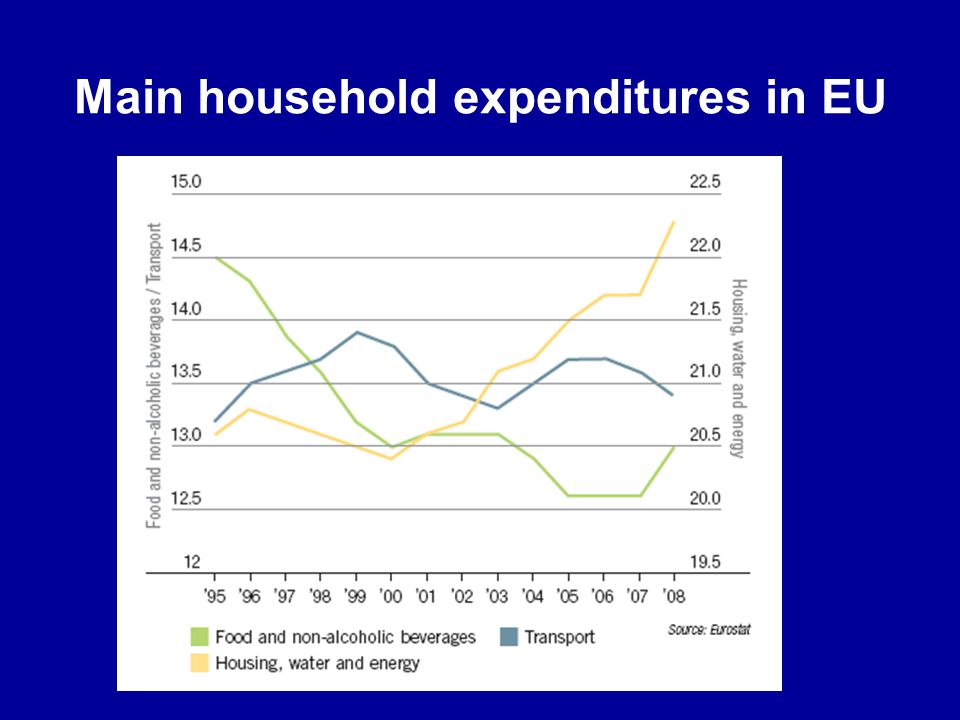 Main household expenditures in EU