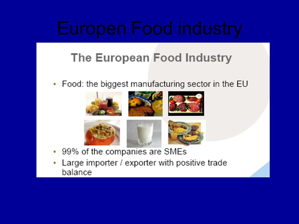 Europen Food industry