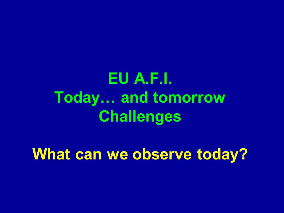 What can we observe today