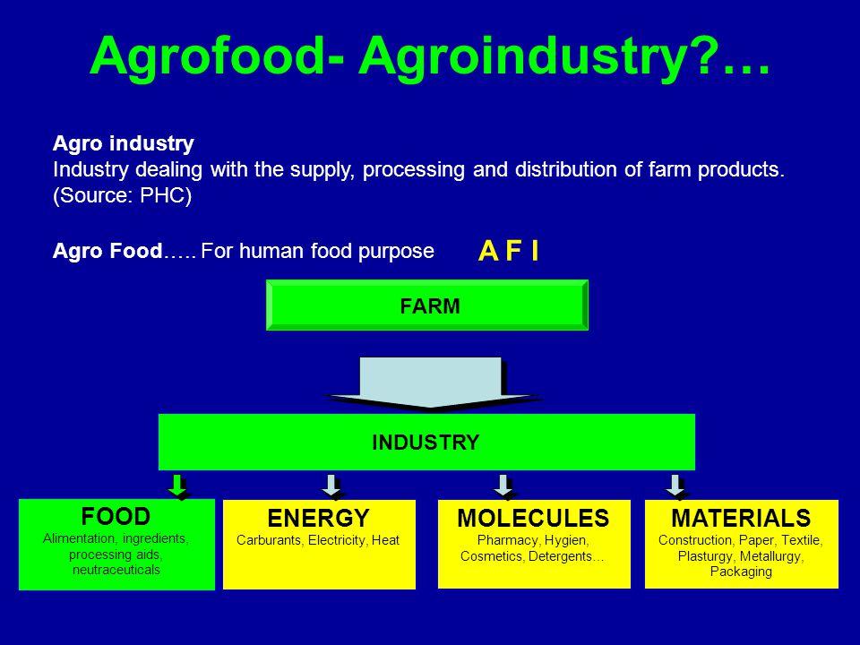 Agrofood- Agroindustry …