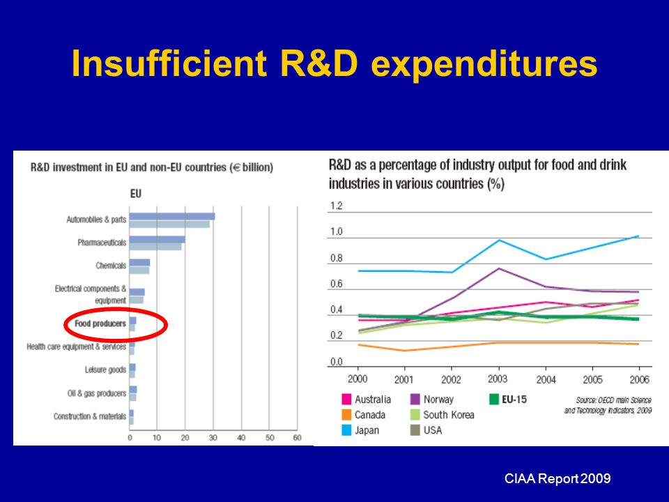 Insufficient R&D expenditures