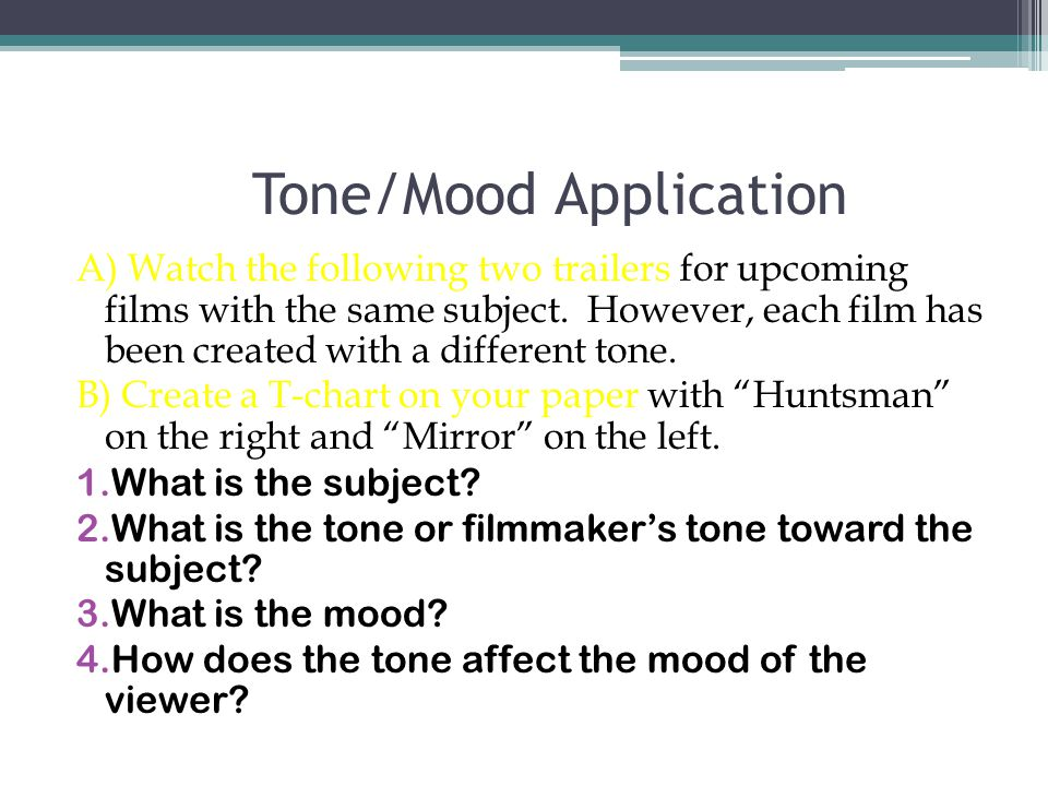 analyzing tone and mood