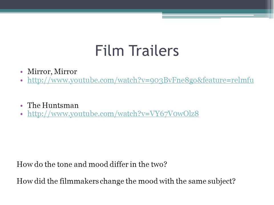 Film Trailers Mirror, Mirror