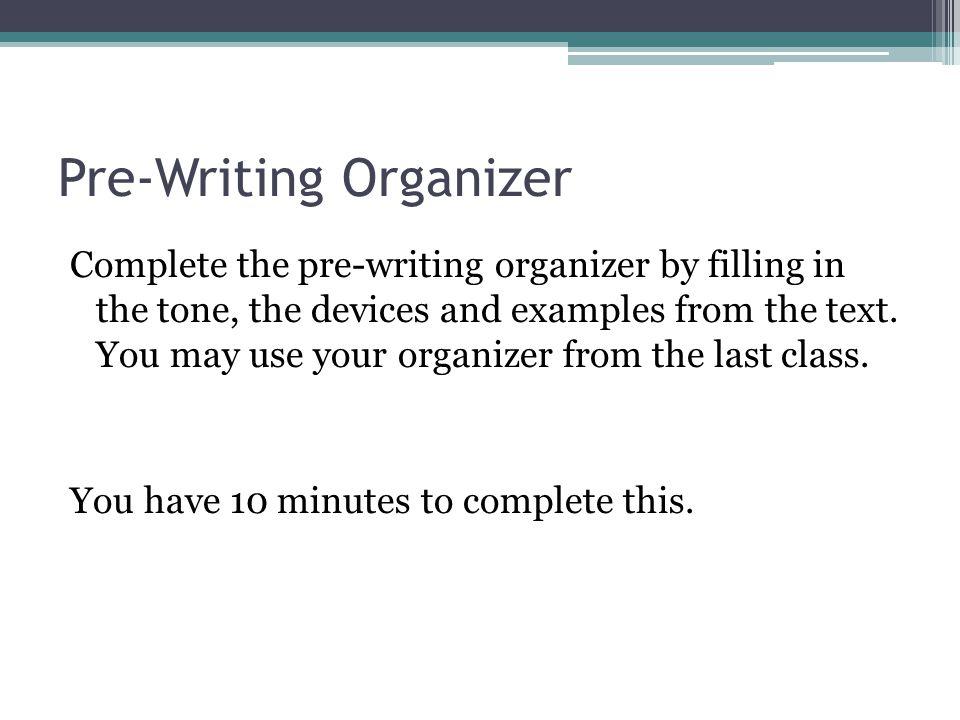 Pre-Writing Organizer