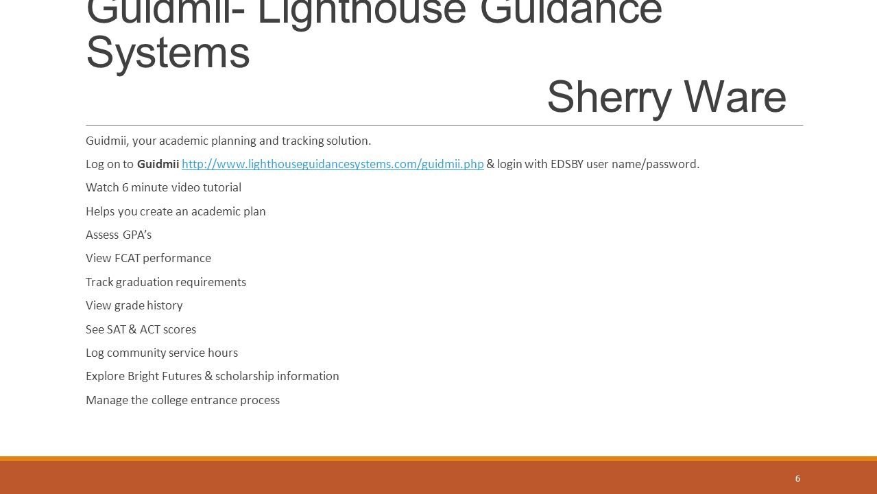 Guidmii- Lighthouse Guidance Systems Sherry Ware