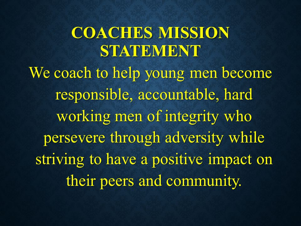 Coaches mission statement
