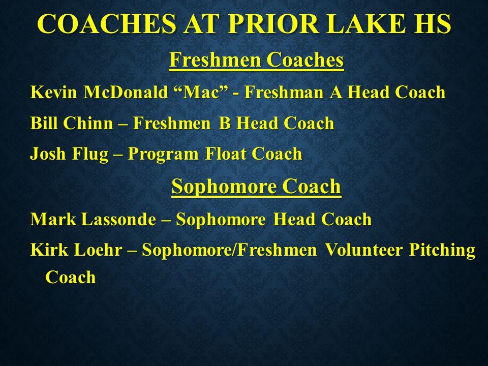 COACHES AT PRIOR LAKE HS