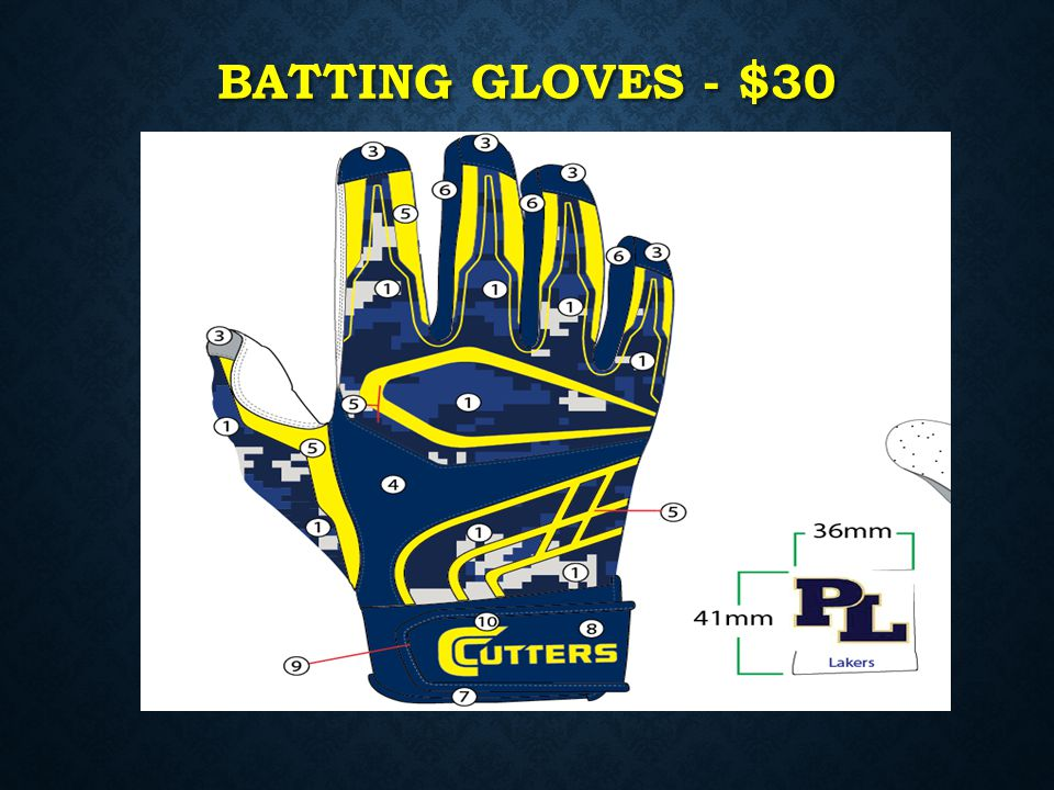 Batting gloves - $30