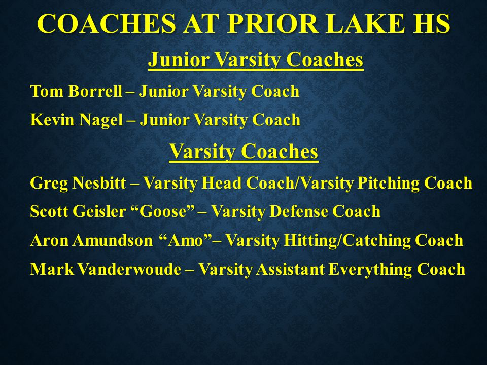 COACHES AT PRIOR LAKE HS
