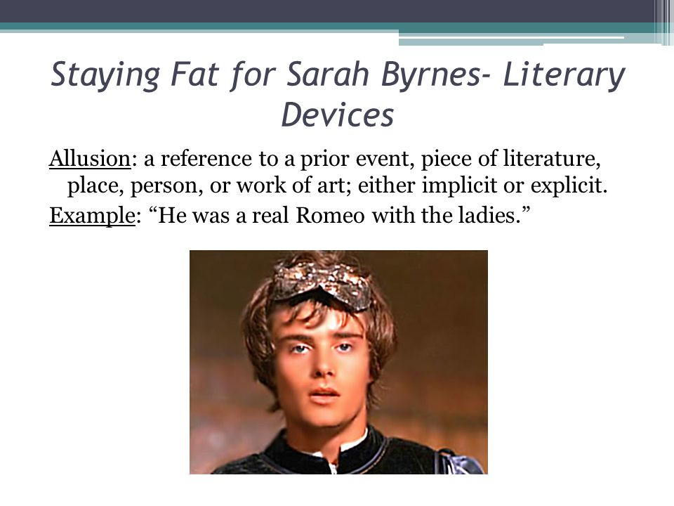Staying Fat for Sarah Byrnes- Literary Devices