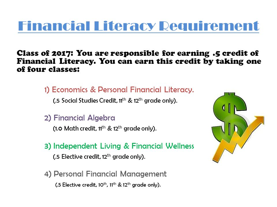 Financial Literacy Requirement