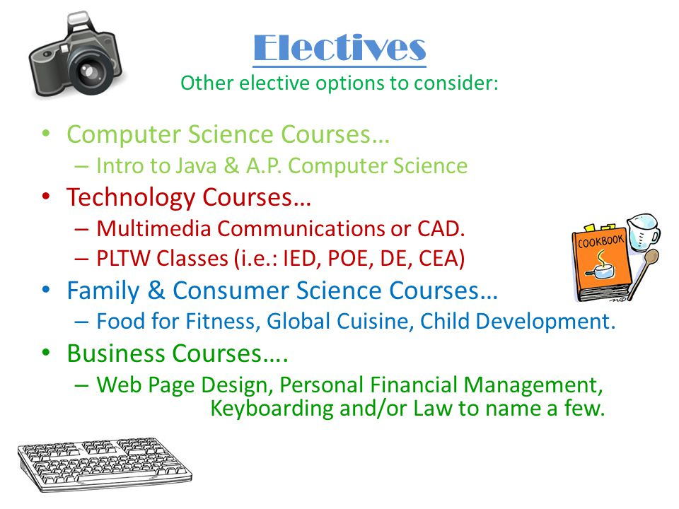 Electives Other elective options to consider: