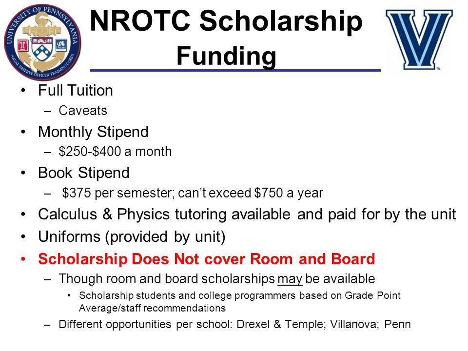 NROTC Scholarship Funding