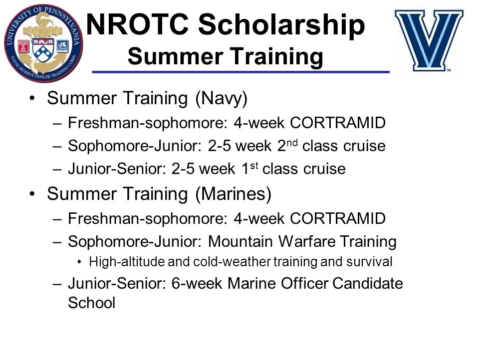 NROTC Scholarship Summer Training
