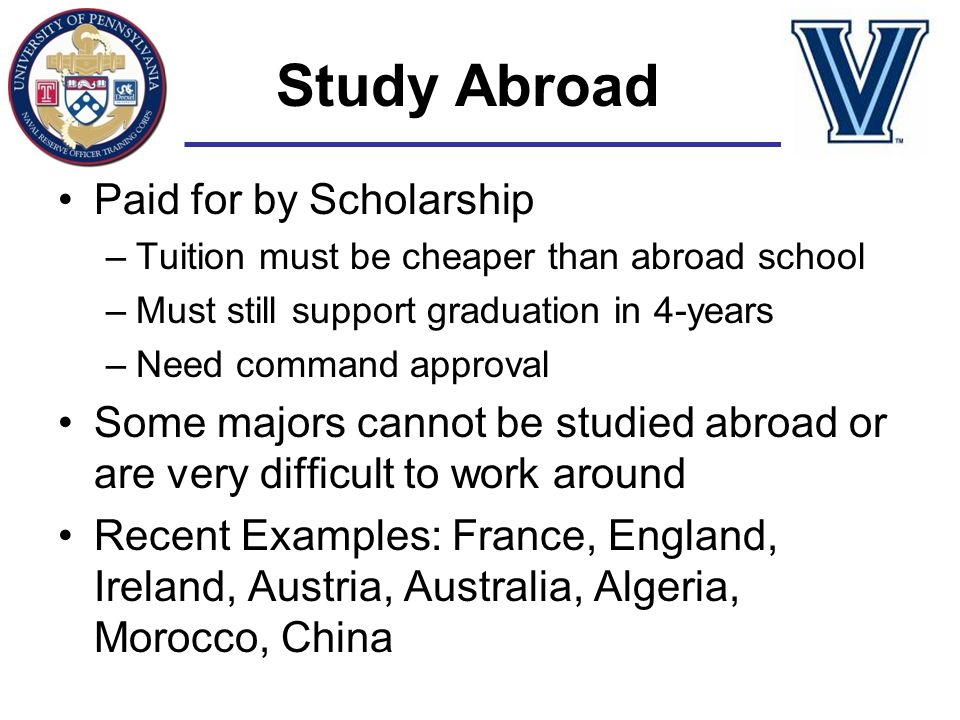 Study Abroad Paid for by Scholarship