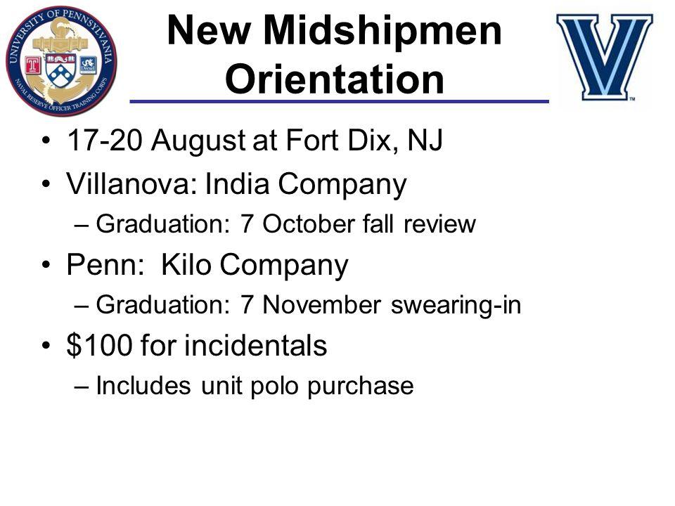 New Midshipmen Orientation
