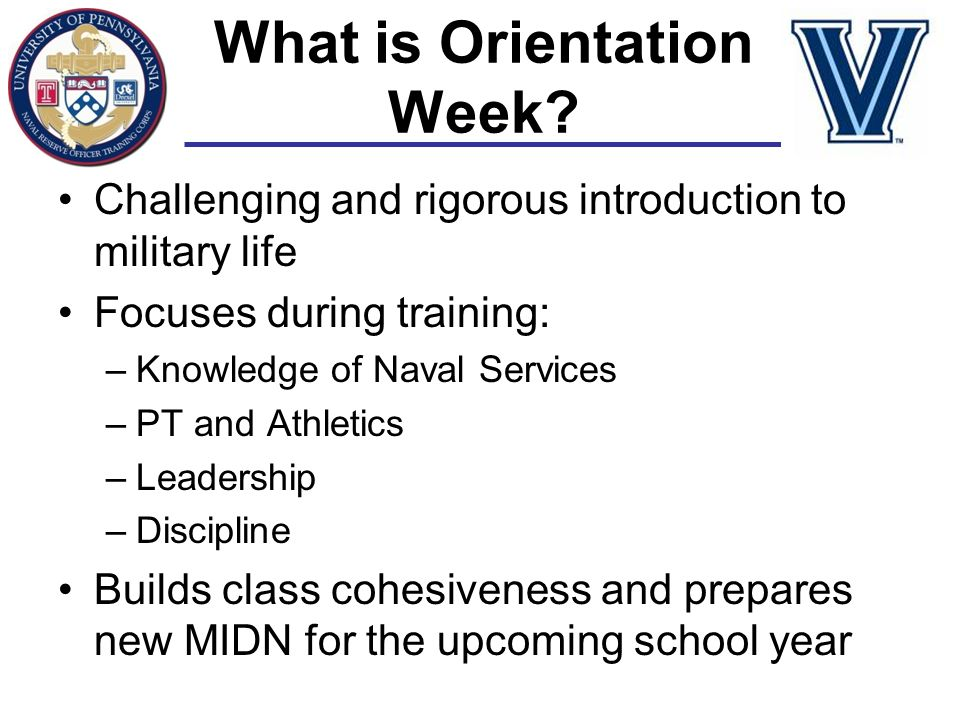 What is Orientation Week