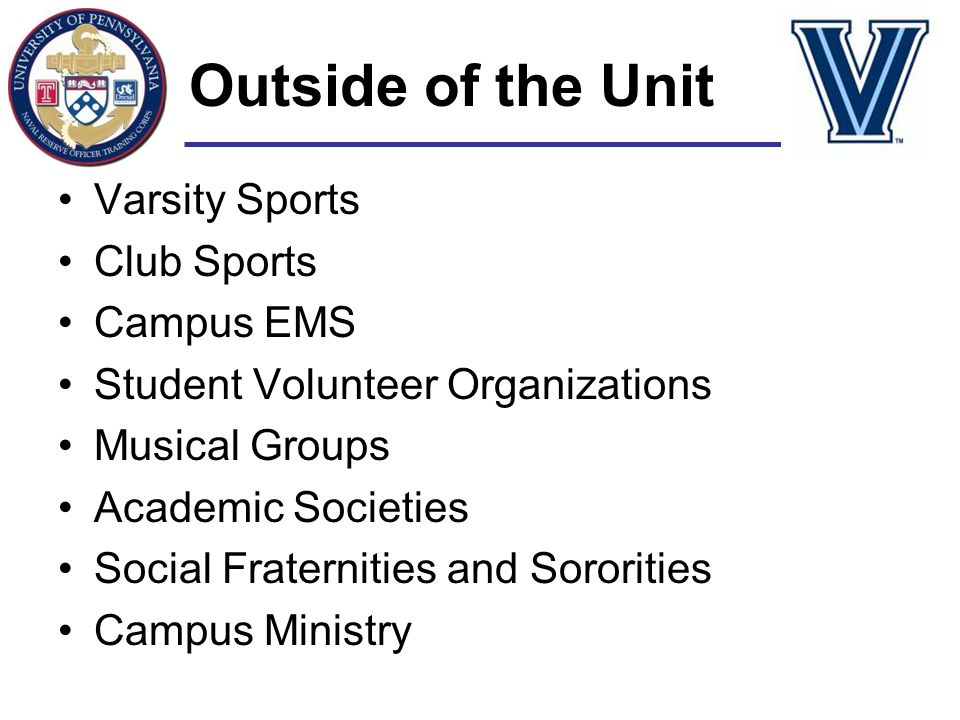 Outside of the Unit Varsity Sports Club Sports Campus EMS