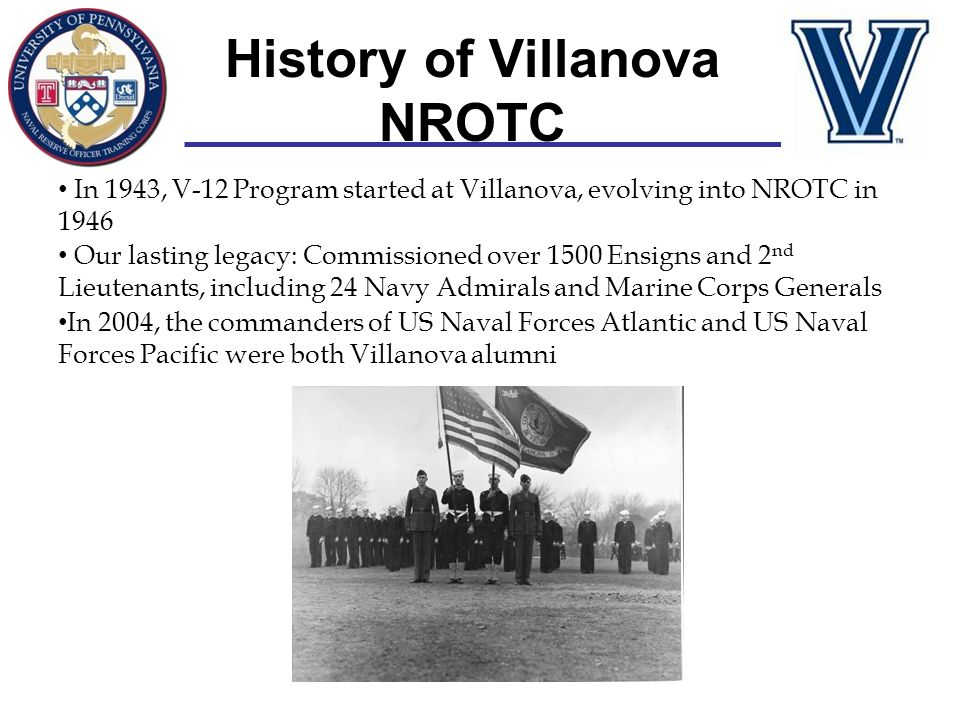 History of Villanova NROTC