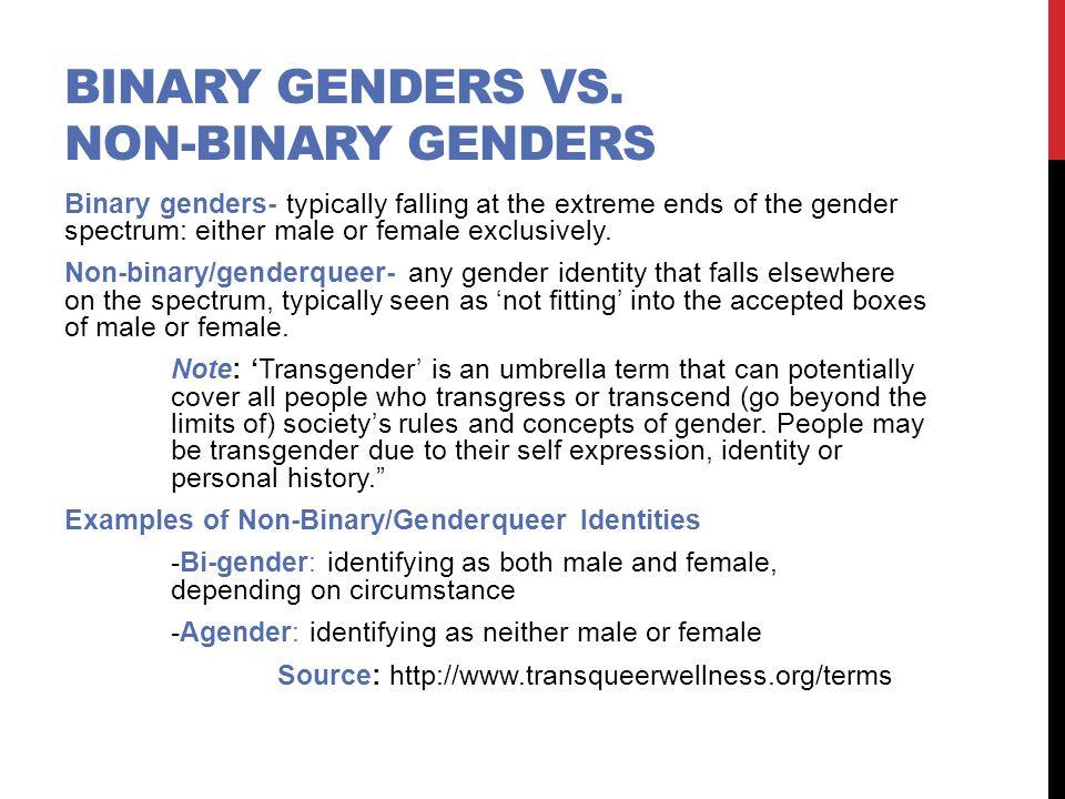 Binary Genders vs. non-binary genders