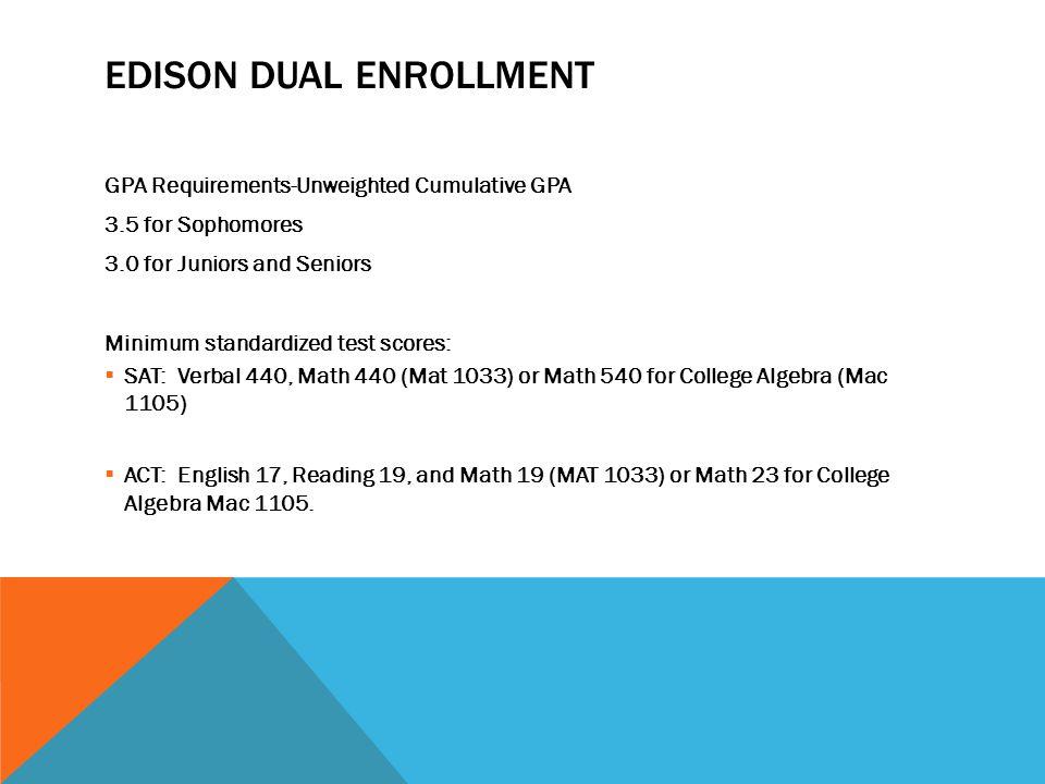 EDISON DUAl Enrollment