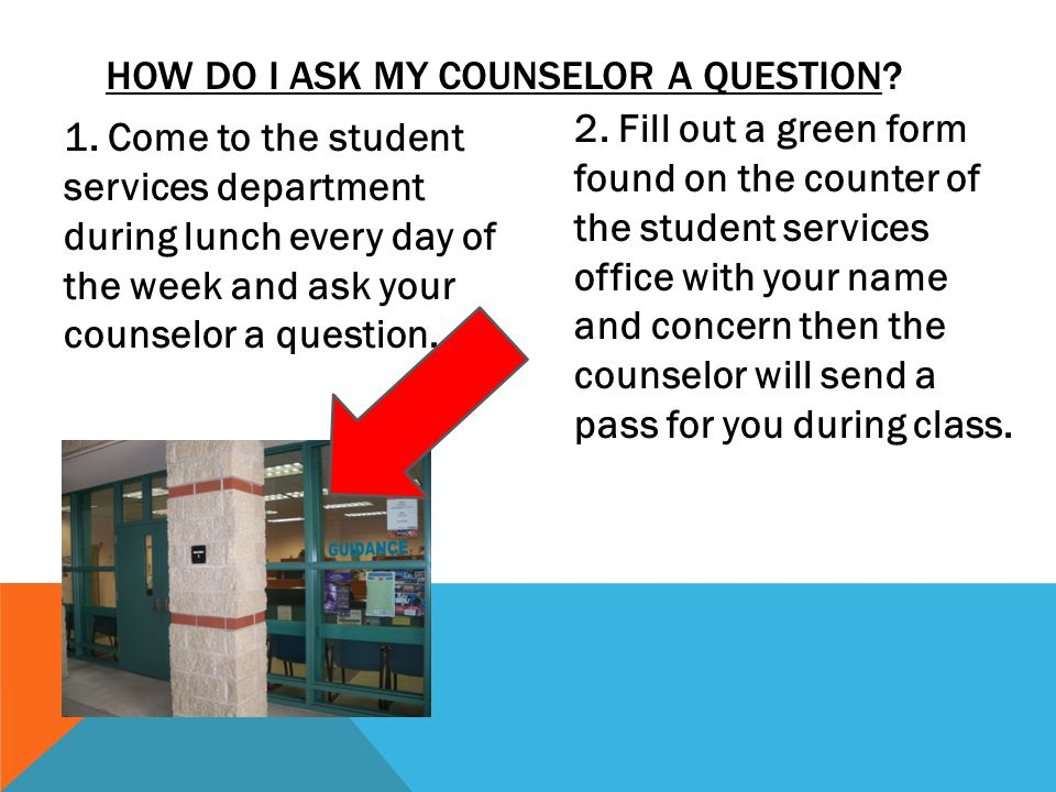 How do I ask My counselor a question