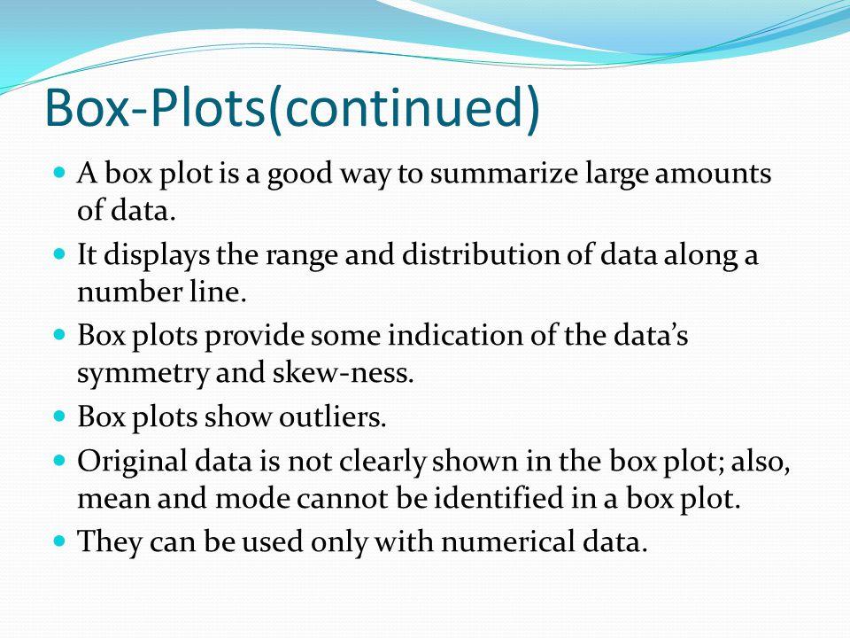 Box-Plots(continued)