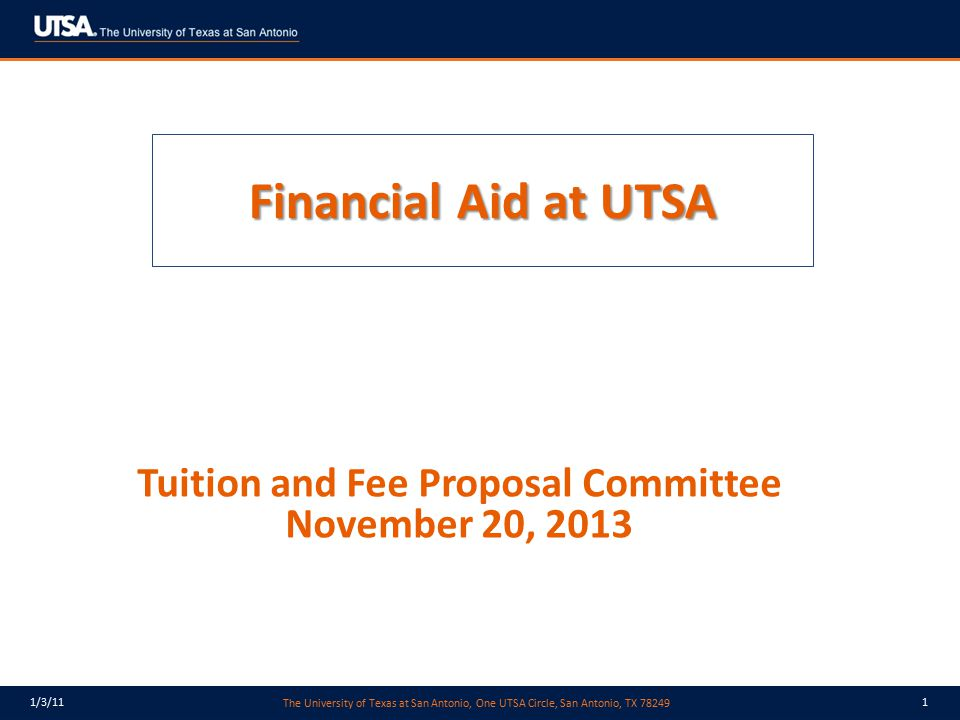 Tuition and Fee Proposal Committee November 20, 2013