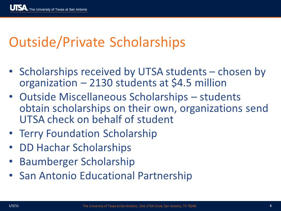 Outside/Private Scholarships