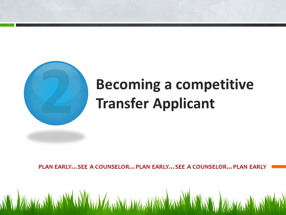 Becoming a competitive Transfer Applicant