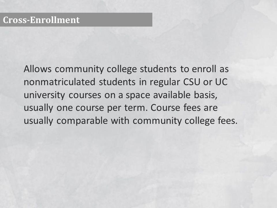 Cross-Enrollment