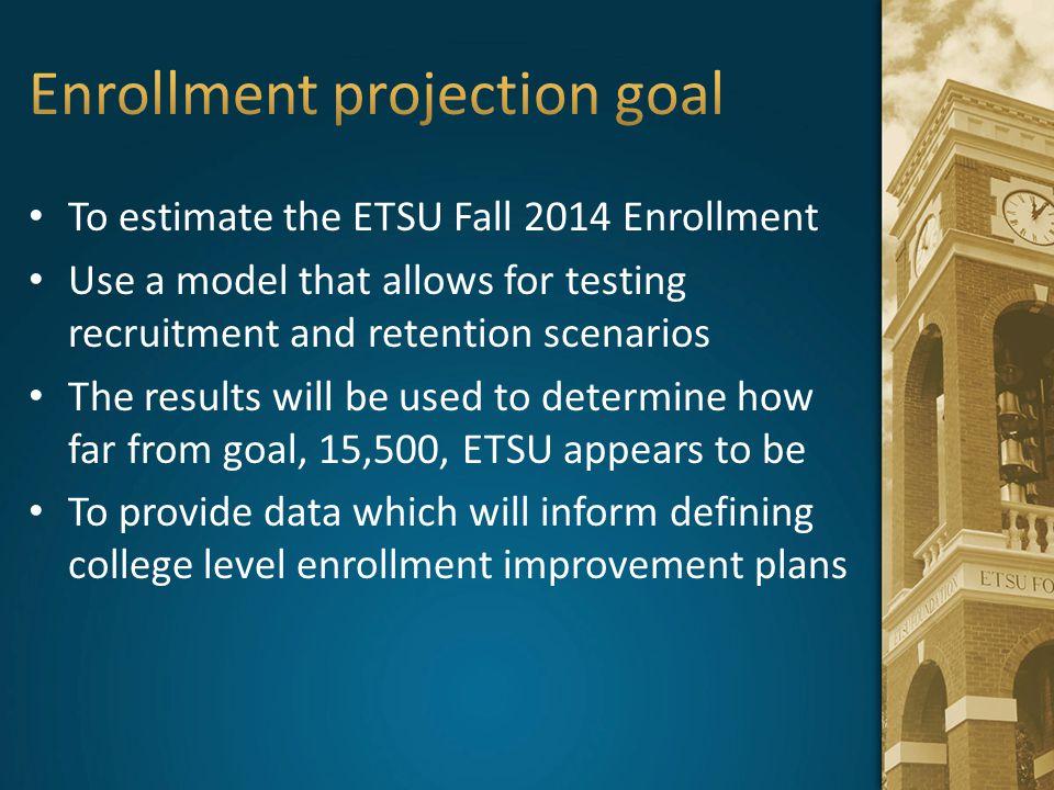 Enrollment projection goal