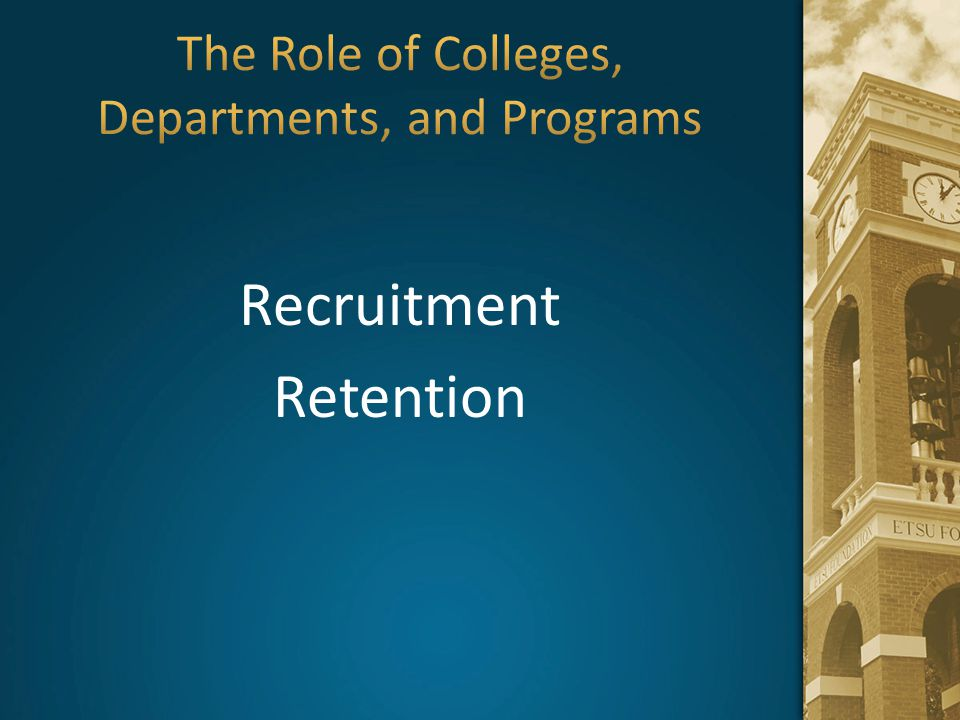 The Role of Colleges, Departments, and Programs