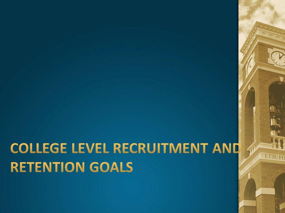 College level recruitment and retention goals