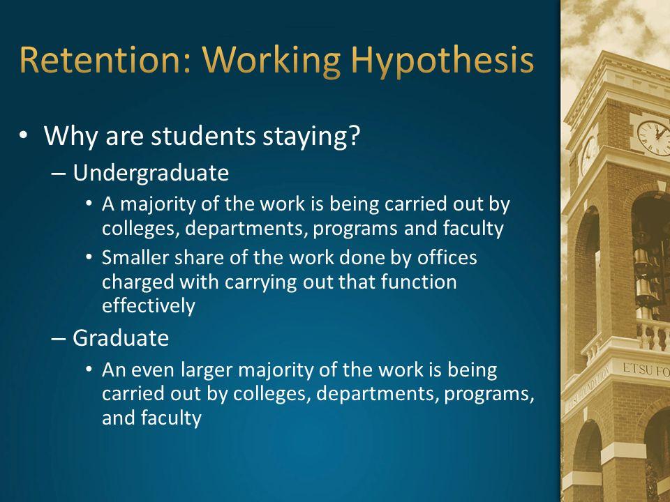 Retention: Working Hypothesis