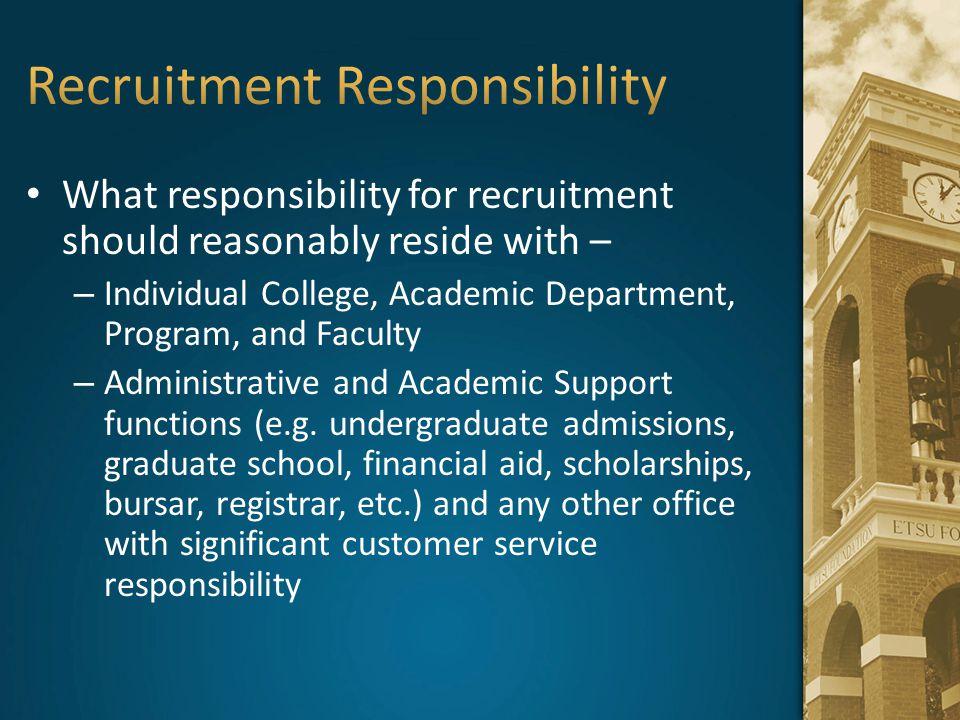 Recruitment Responsibility